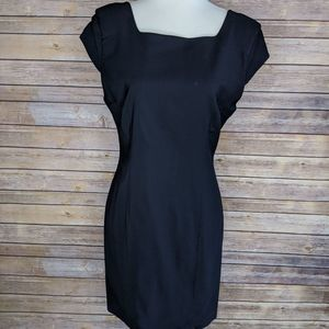 Helmut Lang Small Black Fitted Mini Dress Career